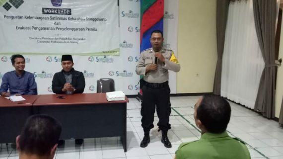 Bhabinkamtibmas Kel.Songgokerto Polsek Batu Kota Hadiri Rapat Evaluasi Pengamanan Penyelenggaraan Pilgub Jatim 2018