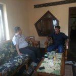 Kapolsek Pujon Polres Batu Sambang Kepala Desa Madiredo