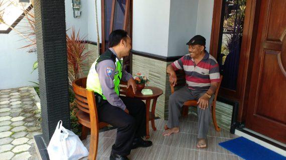 Bhabinkamtibmas Kelurahan Ngaglik Polsek Batu Kota Sampaikan Pesan Kamtibmas DDS