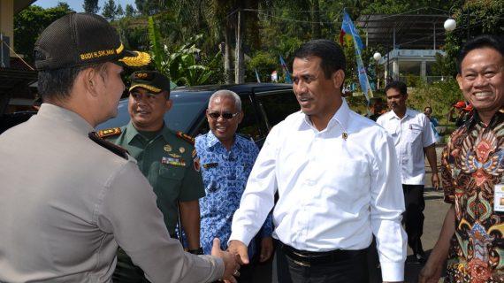 Kapolres Batu Dampingi Kunjungan Kerja Menteri Pertanian Republik Indonesia