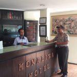 Upaya Juga Jalin Kerjasama Dengan Masyarakat, Polres Batu Kapolsek Bumiaji Menyampaikan Himbauan Kepada Security Hotel Monalisa