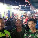 Sinergitas antara anggota TNI dan anggota POLRI di Polsek Bumiaji Polres Batu dalam rangka amankan giat masyarakat