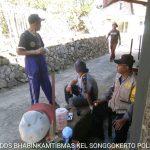 Sambang Pagi Bhabin Kel Songgokerto Polsek Batu Kota Sampaikan Pesan Kamtibmas kepada wargaa binaan