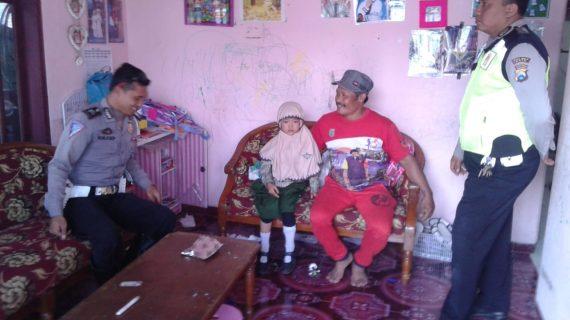 Respon cepat Satlantas Polres Batu Pertemukan Anak Hilang Dengan Keluarga