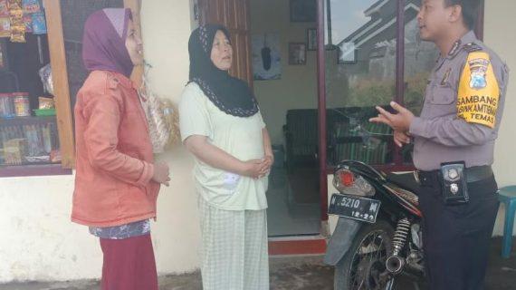 Bhabinkamtibmas Kelurahan Temas Polsek Batu Kota Polres Batu Sampaikan Pesan Kamtibmas