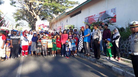 Bhabinkamtibmas Desa Sumberejo Polsek Batu Kota Melaksanakan Pengamanan Takbir Keliling