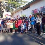 Kapolsek Junrejo Polres Batu Beserta Anggota Melaksanakan Pengamanan peserta gerak jalan Dalam Rangka HUT RI ke 73