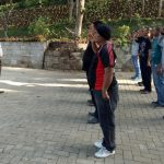 Bhabin Desa Oro Oro Ombo Polsek Batu Kota Latihan PBB Satpam Batu Flower Garden Untuk Meningkatkan Pam Swakarsa