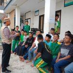 Bhabin Kelurahan Temas Polsek BatuPolres Batu Sambangi Santri Pondok Al Hidayah Sampaikan Pesan Kamtibmas