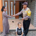DDS Sambang Warga Masyarakat Bhabinkamtibmas Kelurahan Temas Polsek Batu Kota Sampaikan Pesan Kamtibmas