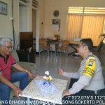 Upayakan Preventif Gaet Mitra Dengan Masyarakat, Silaturahmi Kamtibmas Ke Tokoh Masyarakat Bhabin Kelurahan Songgokerto Polsek Batu Polres Batu
