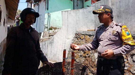 Giat Sambang Usaha Warga Bhabinkamtibmas Kelurahan Temas Polsek Batu Polres Batu Jaga Keamanan Wilayah