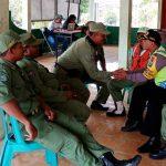 Anggota Bhabinkamtibmas Giat DDS dan Silaturahmi, Silaturahmi Bersama Anggota Linmas Bhabinkamtibmas Kelurahan Temas Polsek Batu Polres Batu Tingkatkan Pam Swakarsa