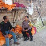 Giat Sambang Ke Gudang Sayur Bhabinkamtibmas Kelurahan Temas Polsek Batu Kota Polres Batu Sampaikan Pesan Kamtibmas