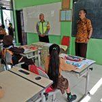 Giat Bintibluh Bhabinkamtibmas Kelurahan Temas Polsek Batu Kota Di SD Negeri Temas 02 Batu