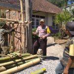 Kegiatan Tatap Muka dan DDS, Sambang Pekerja Bangunan Bhabinkamtibmas Kelurahan Temas Polsek Batu Kota Polres Batu Sampaikan Pesan Kamtibmas