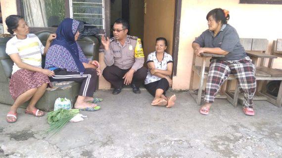 Bhabinkamtibmas Kelurahan Songgokerto Polsek Batu Kota Polres Batu Agar Tetap Terjaga Sinergitas Berikan Wilayah Aman Kondusif