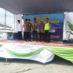 Bhabinkamtibmas Polsek Pujon Polres Batu Pengamanan Pawai Ta'aruf Memperingati tahun Baru Islam Di Desa Ngabab