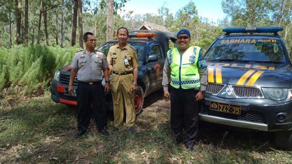 Kapolsek Pujon Polres Batu Dan Anggota Beserta Instansi Terkait Apel Penanggulangan Bencana Kebakaran Hutan