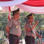 Kapolres Batu Mengikuti giat Farewell Parade Kapolda Jatim dari Irjen Pol Machfud Arifin SH kepada Irjen Pol Drs Luki Hermawann