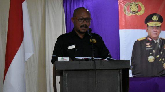 Paparan Kasatgas Preemtif Polres Batu Dalam Latihan Pra Operasi Mantap Brata 2018