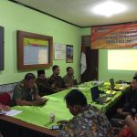 Anggota Polsek Bumiaji Menghadiri Rapat Dalam Kantor Koordinasi Pengawasan Pemilu Th 2019