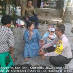 Sambang Sore Kunjungan Kerukunan Warga Bhabinkamtibmas Kelurahan Songgokerto Polsek Batu Kota Polres  Batu