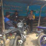 Sambang Ke Pangkalan Ojek Bhabinkamtibmas Kelurahan Ngaglik Polsek Batu Kota Sampaikan Pesan Kamtibmas Tatib Lalin