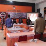 Kantor KPU Kota Batu Rapat Koordinasi Pencermatan Daftar Pemilih