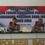 Tingkatkan Kepuasan Publik, Kapolres Batu Laksanakan Rapat Internal Kesiapan Forum Konsultasi Publik (FKP)