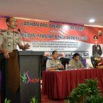 Jelang Masa Kampanye Pilpres dan Pileg , Polres Batu Laksanakan Latihan Pra Operasi Mantap Brata 2018