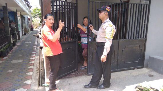 Kunjungan Kerukunan Bhabinkamtibmas Songgokerto Polsek Batu Kota Polres Batu Untuk Menjaga Wilayah Kondusif