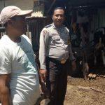 Kunjungi warga binaan Bhabin Desa Oro Oro Ombo Polsek Batu Polres Batu Sampaikan Pesan Kamtibmas