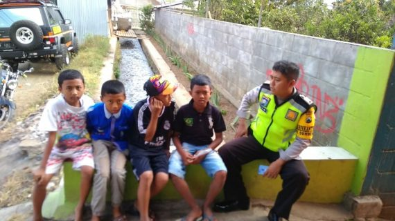 Pelaksanaan giat POLSANAK Bhabinkamtibmas Desa Sumberejo Polsek Batu Kota Polres Batu