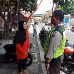 Giat Sambang Tempat Usaha warga Kanit Binmas Polsek Batu Kota Sampaikan Pesan Kamtibmas