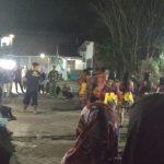 Reog ponorogo digelar dalam rangka acara grebeg suro di Balai Desa Pendem Junrejo