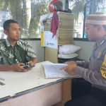 Bhabinkamtibmas Kelurahan Temas Polsek Batu Sambang Pam Swakrasa Pesan Kamtibmas