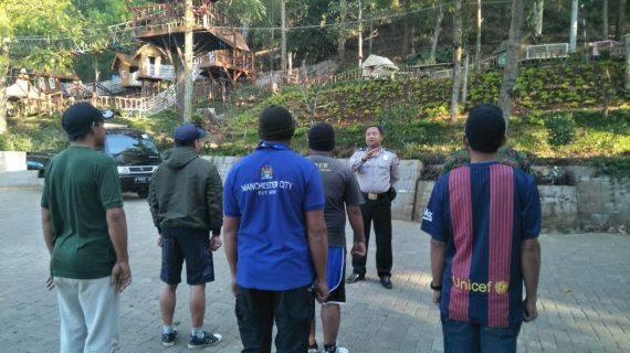 Bhabinkamtibmas Silaturahmi Wilayah, Tingkatkan Pam Swakarsa Bhabin Desa Oro Oro Ombo Polsek Batu Kota Lakukan Pembinaan Satpam BFG Batu