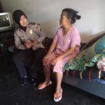 Anggota Bhabinkamtibmas Giat DDS dan Silaturahmi, Anjangsana Warga Sakit Bhabinkamtibmas Desa Pesanggrahan Polsek Batu