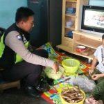 Kegiatan DDS Rumah Warga Bhabin Kelurahan Sisir Polsek Batu Titipkan Pesan Kamtibmasdalam rangka dinginkan suasana pasca pemilu