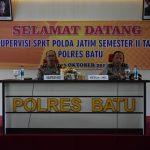 Polres Batu Melaksanakan Kegiatan Supervisi SPKT Polda Jatim Semester II TA.2018 di Polres Batu
