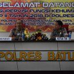 Bidhumas Polda Jatim Laksanakan Supervisi Kehumasan Tahap II Tahun 2018 Di Rupatama Polres Batu