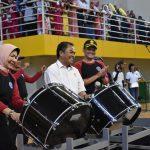 Semarakkan HUT Kota Batu Ke 17, Polres Batu Selenggarakan Kejuaraan Drum Band Kapolres Cup 2018.