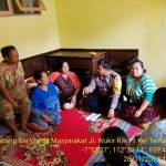 Brigadir Anton , Bhabinkamtibmas Temas kunjungi ibu ibu serap aspirasi