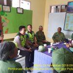 Pembinaan Kelompok Pam Swakarsa Anggota Linmas Bhabinkamtibmas Kelurahan Sisir Polsek Batu
