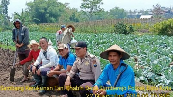 Sambang Kerukunan Tani Bhabinkamtibmas Desa Sumberejo Polsek Batu Polres Batu
