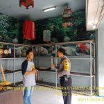 Bhabinkamtibmas Silaturahmi dan Tatap Muka Bersama Warga, Sambang Tempat Jual Beli Burung Kicau Bhabinkamtibmas Kelurahan Temas Polsek Batu Polres Batu