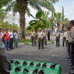 Kasipropam Polres Batu Riksa Senjata Api Dinas