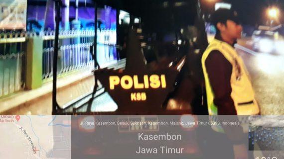 Tingkatkan Sitkamtibmas Yang Kondusif, Polsek Kasembon Polres Batu Giatkan Patroli Malam Jaga Kamtibmas