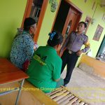 Brigadir Anton melaksanakan kegiatan sambang Warga Masyarakat , Sampaikan Pesan Kamtibmas jelang pergantian tahun